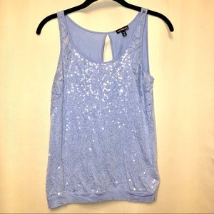 EXPRESS sequins/lace tank Size X-Small